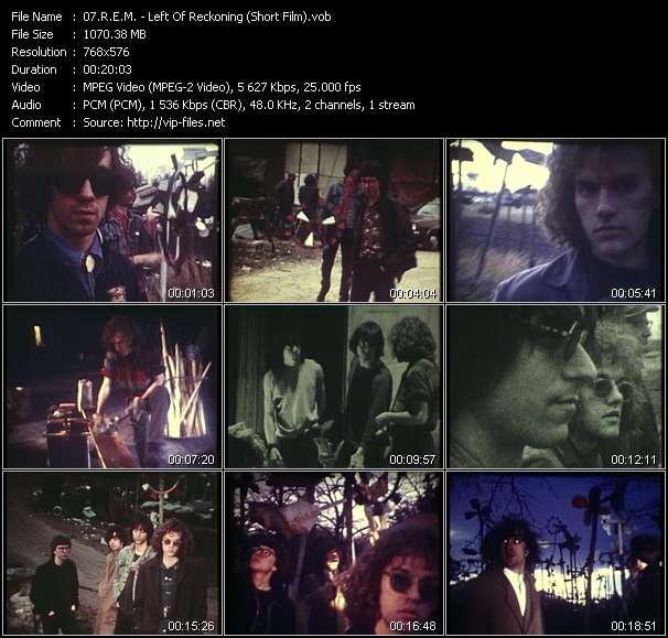 Screenshot of Music Video R.E.M. - Left Of Reckoning (Harborcoat - 7 Chinese Brothers - So. Central Rain - Pretty Persuasion - Time After Time) (Short Film)