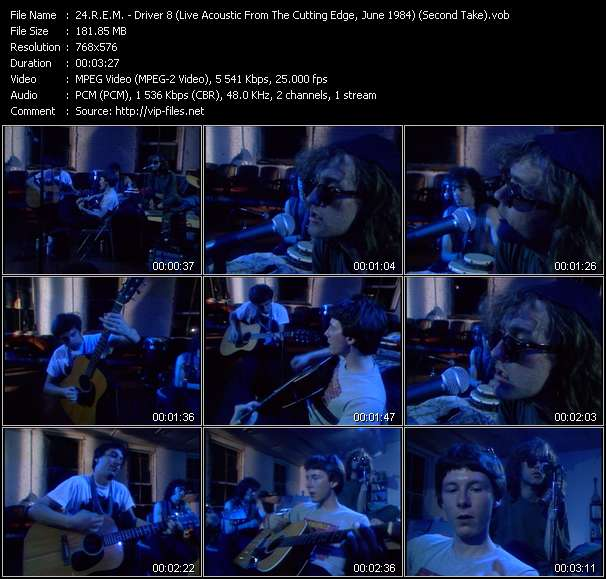 Screenshot of Music Video R.E.M. - Driver 8 (Live Acoustic From The Cutting Edge, June 1984) (Second Take)