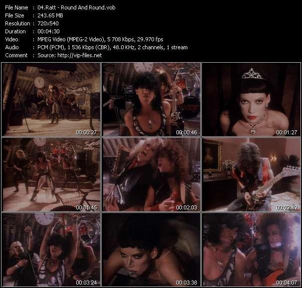 Screenshot of Music Video Ratt - Round And Round
