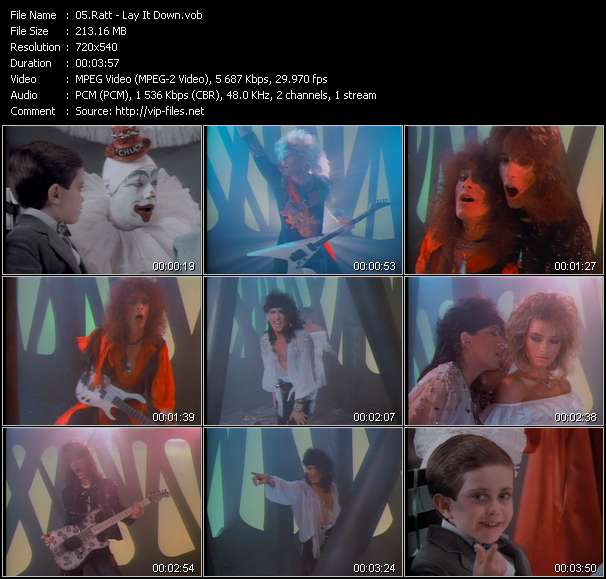 Screenshot of Music Video Ratt - Lay It Down