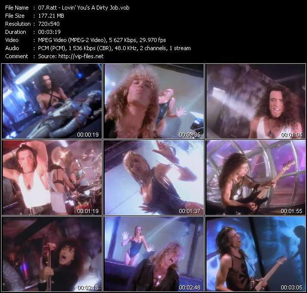 Screenshot of Music Video Ratt - Lovin' You's A Dirty Job