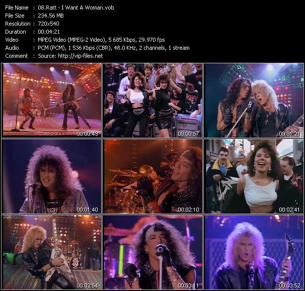 Screenshot of Music Video Ratt - I Want A Woman