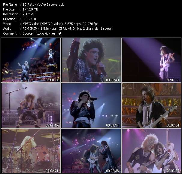 Screenshot of Music Video Ratt - You're In Love