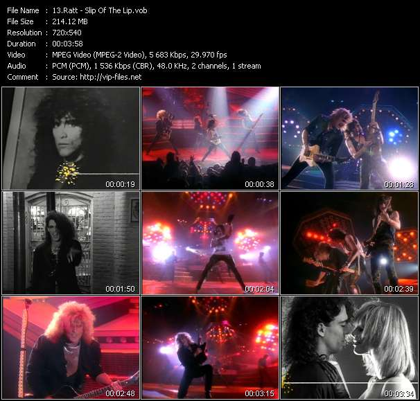 Screenshot of Music Video Ratt - Slip Of The Lip