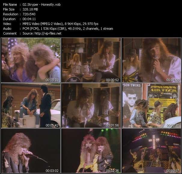 Screenshot of Music Video Stryper - Honestly