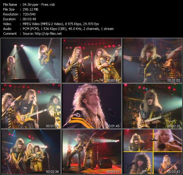 Screenshot of Music Video Stryper - Free