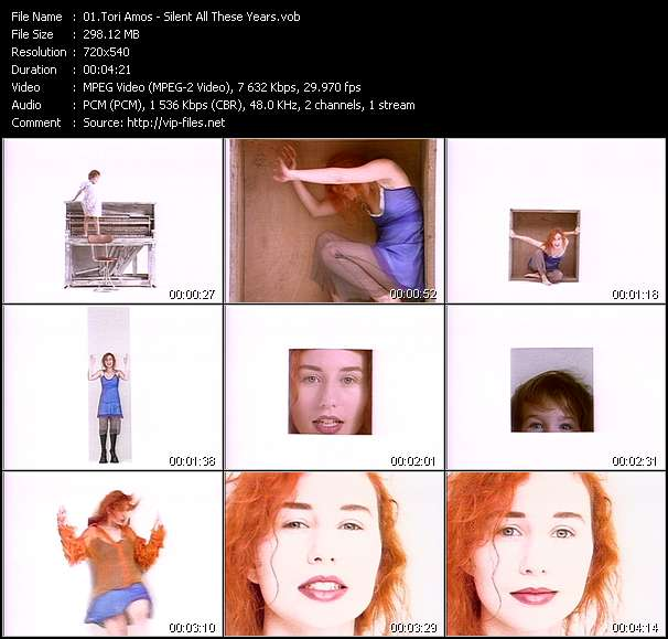 Screenshot of Music Video Tori Amos - Silent All These Years