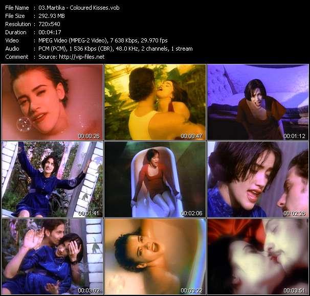 Screenshot of Music Video Martika - Coloured Kisses