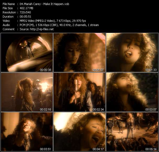 Screenshot of Music Video Mariah Carey - Make It Happen