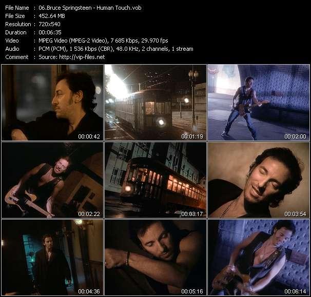 Screenshot of Music Video Bruce Springsteen - Human Touch