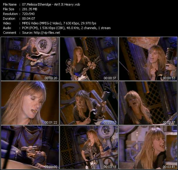 Screenshot of Music Video Melissa Etheridge - Ain't It Heavy