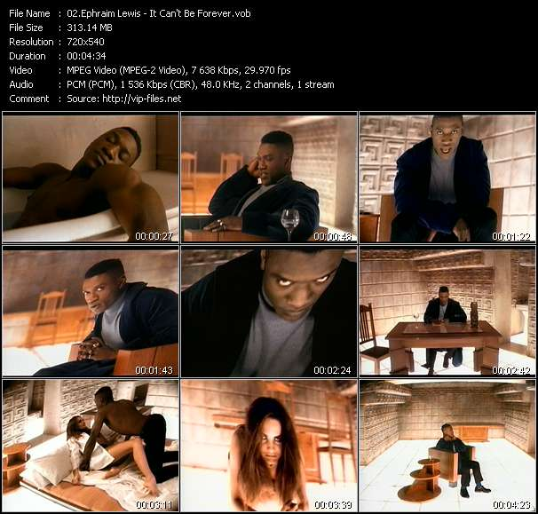Screenshot of Music Video Ephraim Lewis - It Can't Be Forever