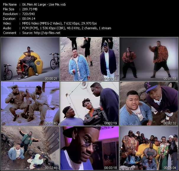 Screenshot of Music Video Men At Large - Use Me