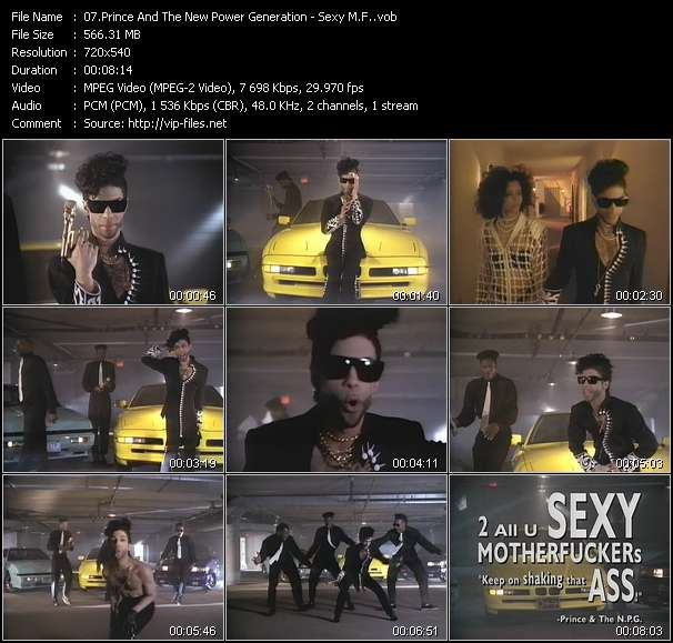 Screenshot of Music Video Prince And The New Power Generation - Sexy M.F.