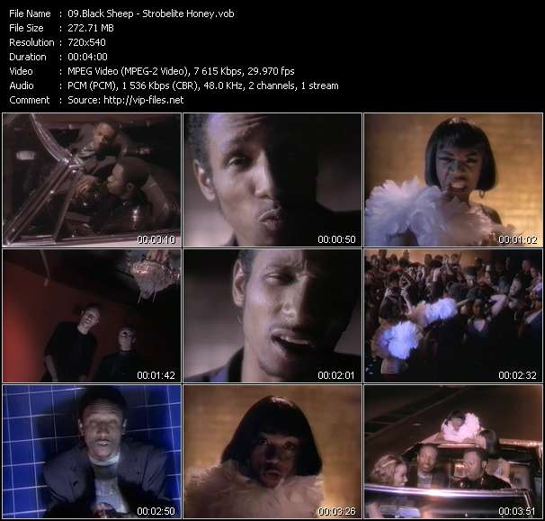 Screenshot of Music Video Black Sheep - Strobelite Honey