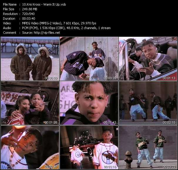 Screenshot of Music Video Kris Kross - Warm It Up