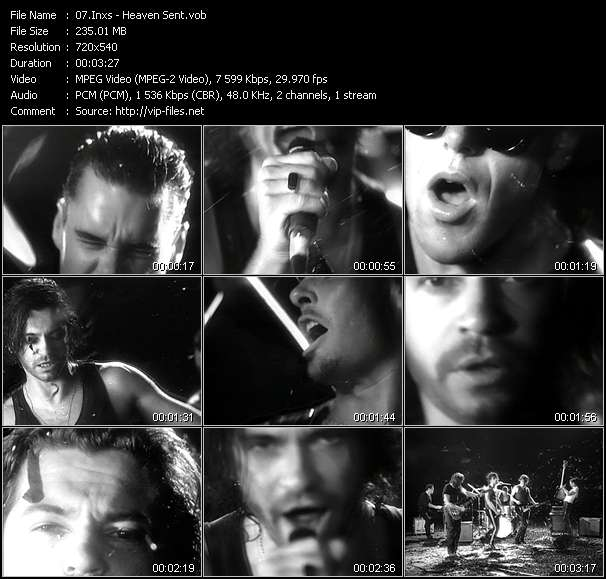 Screenshot of Music Video Inxs - Heaven Sent