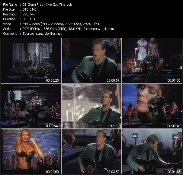 Screenshot of Music Video Glenn Frey - I've Got Mine
