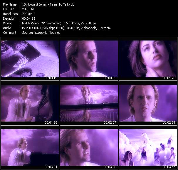 Screenshot of Music Video Howard Jones - Tears To Tell