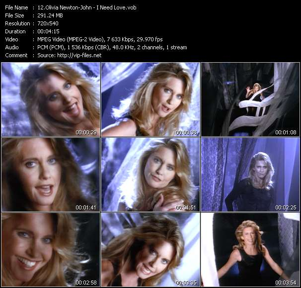 Screenshot of Music Video Olivia Newton-John - I Need Love