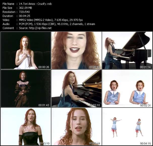 Screenshot of Music Video Tori Amos - Crucify