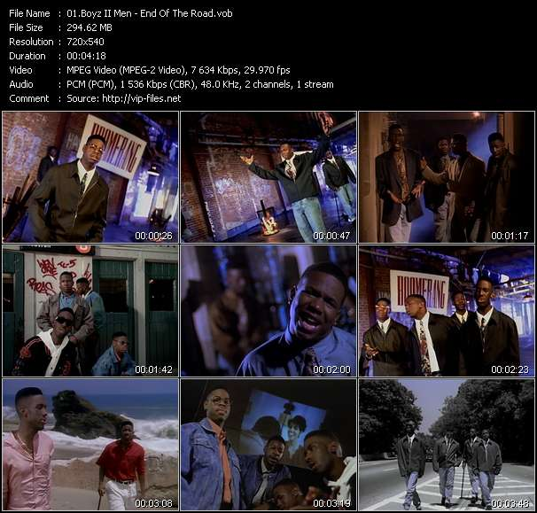 "Screenshot of Music Video Boyz II Men - End Of The Road (From ""Boomerang"")"