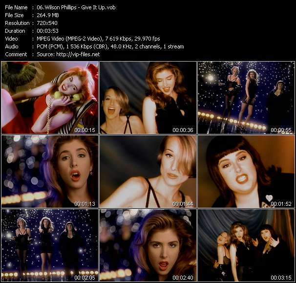 Screenshot of Music Video Wilson Phillips - Give It Up
