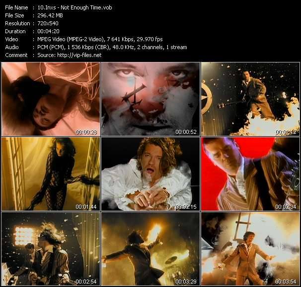 Screenshot of Music Video Inxs - Not Enough Time