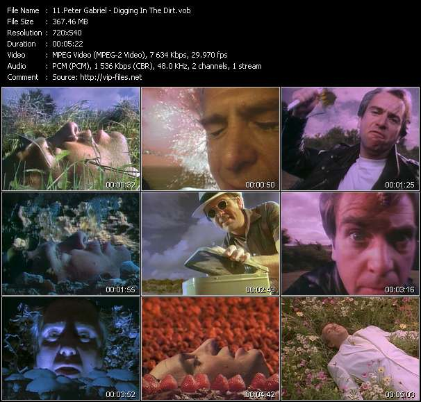 Peter Gabriel video vob