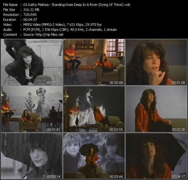 Screenshot of Music Video Kathy Mattea - Standing Knee Deep In A River (Dying Of Thirst)