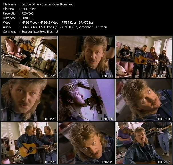 Screenshot of Music Video Joe Diffie - Startin' Over Blues