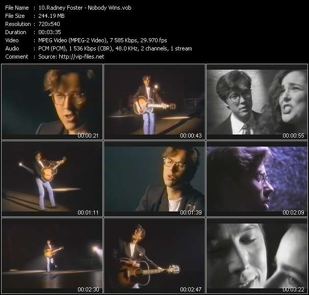 Screenshot of Music Video Radney Foster - Nobody Wins