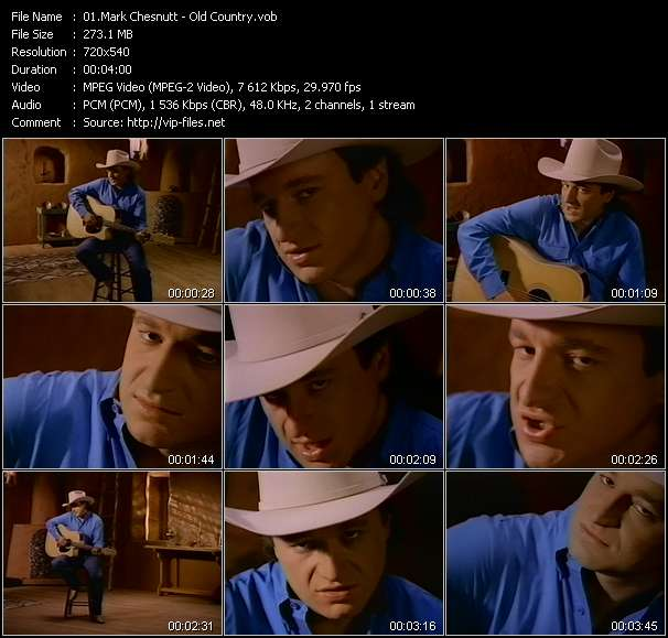 Screenshot of Music Video Mark Chesnutt - Old Country