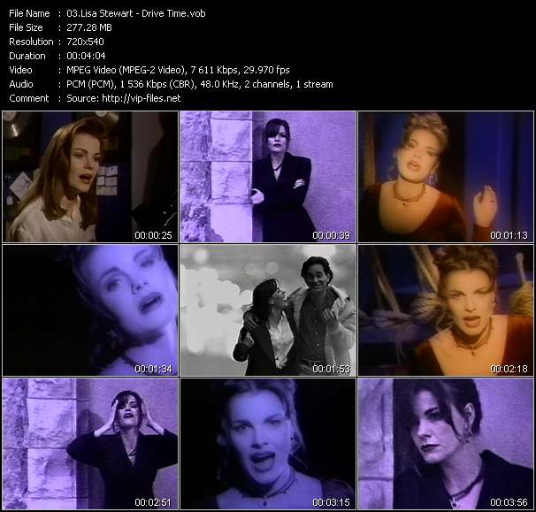 Screenshot of Music Video Lisa Stewart - Drive Time