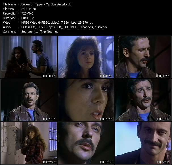 Screenshot of Music Video Aaron Tippin - My Blue Angel