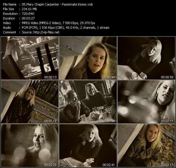 Screenshot of Music Video Mary Chapin Carpenter - Passionate Kisses
