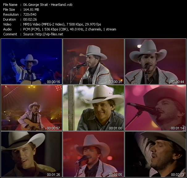 Screenshot of Music Video George Strait - Heartland