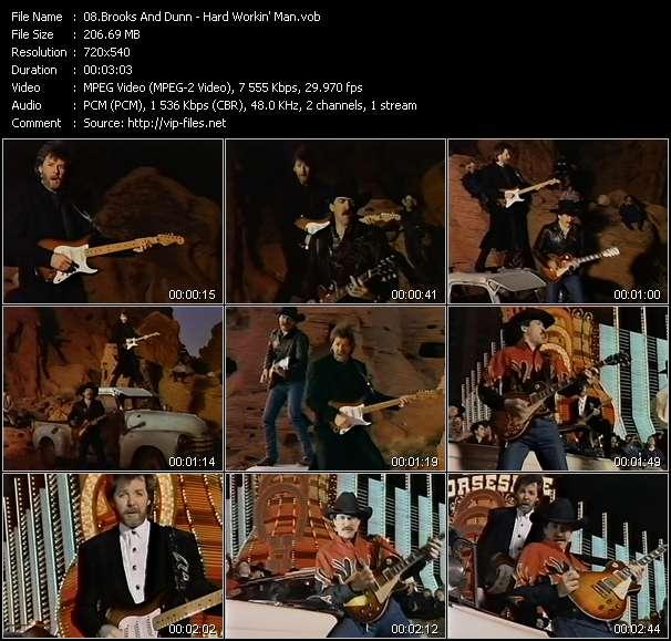 Screenshot of Music Video Brooks And Dunn - Hard Workin' Man