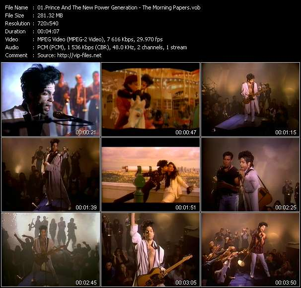 Screenshot of Music Video Prince And The New Power Generation - The Morning Papers