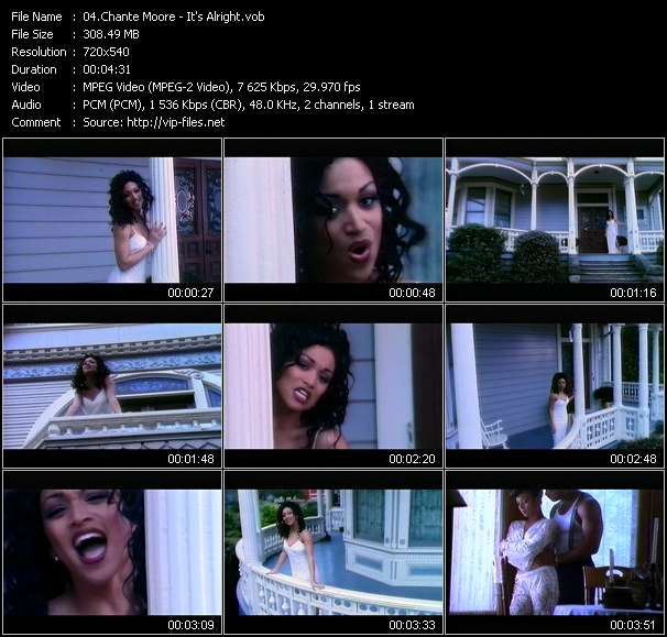 Screenshot of Music Video Chante Moore - It's Alright