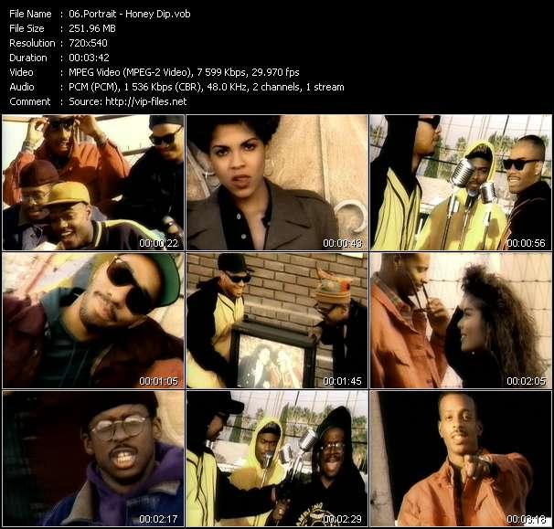 Screenshot of Music Video Portrait - Honey Dip