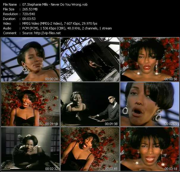 Screenshot of Music Video Stephanie Mills - Never Do You Wrong