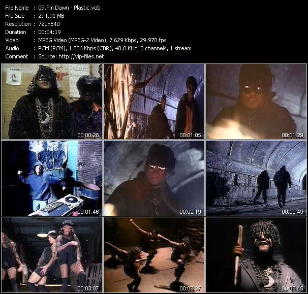Screenshot of Music Video Pm Dawn - Plastic
