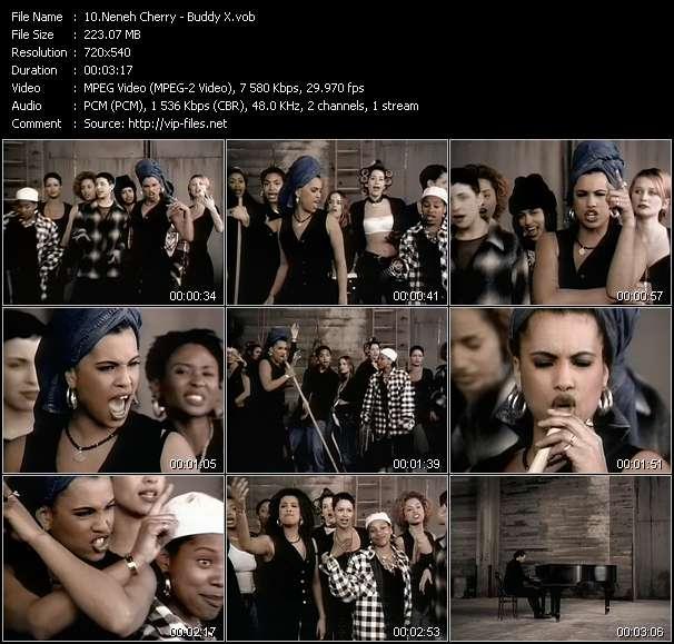 Screenshot of Music Video Neneh Cherry - Buddy X