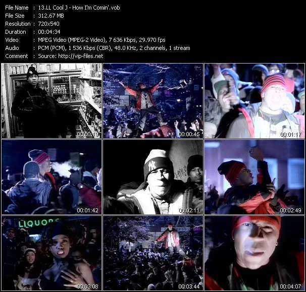 Screenshot of Music Video LL Cool J - How I'm Comin'