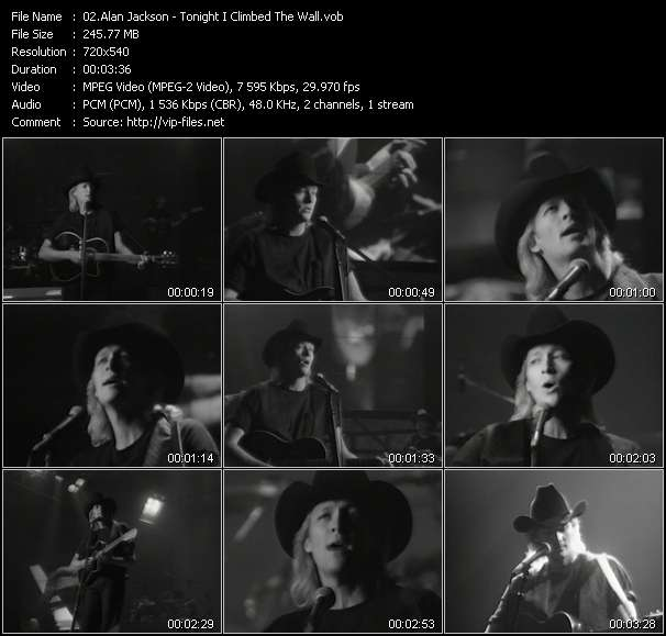 Screenshot of Music Video Alan Jackson - Tonight I Climbed The Wall