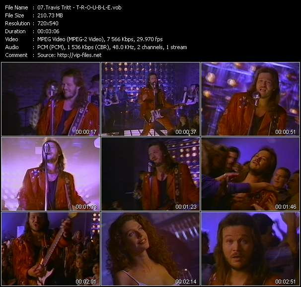 Screenshot of Music Video Travis Tritt - T-R-O-U-B-L-E