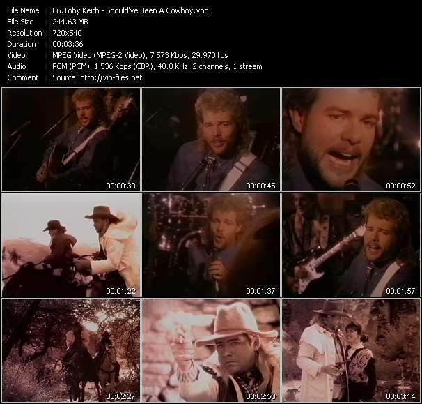 Screenshot of Music Video Toby Keith - Should've Been A Cowboy