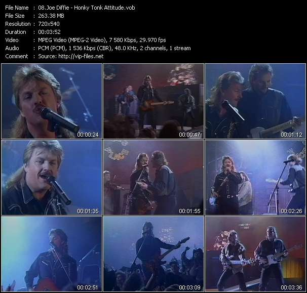 Screenshot of Music Video Joe Diffie - Honky Tonk Attitude