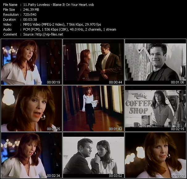 Screenshot of Music Video Patty Loveless - Blame It On Your Heart